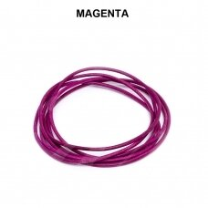 Griffin® odinė virvelė 1.3mm diametro Magenta (100cm)