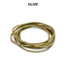 Griffin® odinė virvelė 1.3mm diametro Olive (100cm)