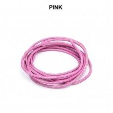 Griffin® odinė virvelė 1.3mm diametro Pink (100cm)