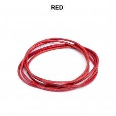 Griffin® odinė virvelė 1.3mm diametro Red (100cm)