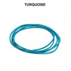 Griffin® odinė virvelė 1.3mm diametro Turquoise (100cm)