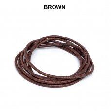 Griffin® odinė virvelė 2mm diametro Brown (100cm)