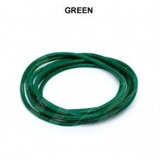 Griffin® odinė virvelė 2mm diametro Green (100cm)