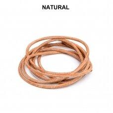 Griffin® odinė virvelė 2mm diametro Natural (100cm)
