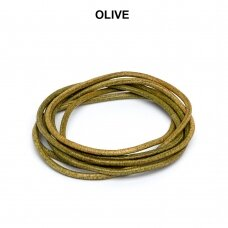 Griffin® odinė virvelė 2mm diametro Olive (100cm)