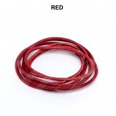 Griffin® odinė virvelė 2mm diametro Red (100cm)