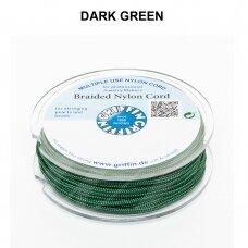 Griffin® pinta nailoninė virvelė 0.30mm diametro Dark Green (25m)