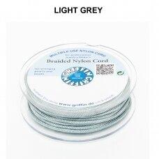Griffin® pinta nailoninė virvelė 1.2mm diametro Light Grey (50m)