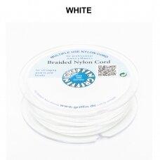 Griffin® pinta nailoninė virvelė 1.2mm diametro White (50m)
