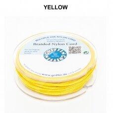 Griffin® pinta nailoninė virvelė 1.2mm diametro Yellow (50m)