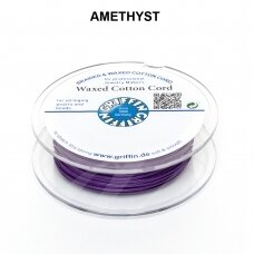 Griffin® vaškuota medvilninė virvelė 0.80mm diametro Amethyst (20m)