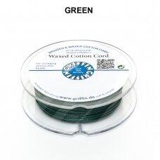 Griffin® vaškuota medvilninė virvelė 0.80mm diametro Green (20m)