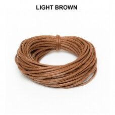 Griffin® Waxed Cotton Cord 0.80mm diameter Light Brown (5m)