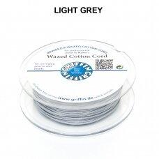 Griffin® vaškuota medvilninė virvelė 1.5mm diametro Light Grey (20m)