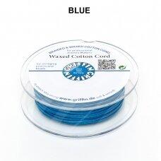 Griffin® vaškuota medvilninė virvelė 1mm diametro Blue (20m)