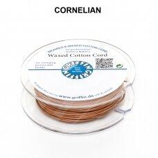 Griffin® vaškuota medvilninė virvelė 1mm diametro Cornelian (20m)