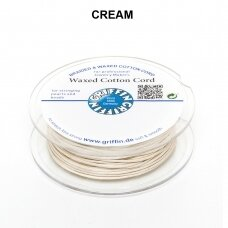 Griffin® Waxed Cotton Cord 1mm diameter Cream (20m)