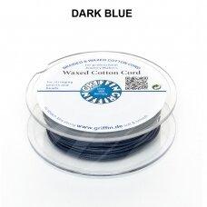 Griffin® vaškuota medvilninė virvelė 1mm diametro Dark Blue (20m)