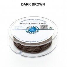 Griffin® vaškuota medvilninė virvelė 1mm diametro Dark Brown (20m)