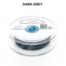 Griffin® Waxed Cotton Cord 1mm diameter Dark Grey (20m)