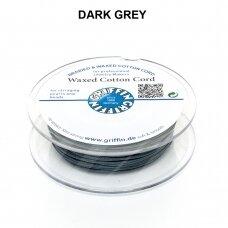 Griffin® vaškuota medvilninė virvelė 1mm diametro Dark Grey (20m)