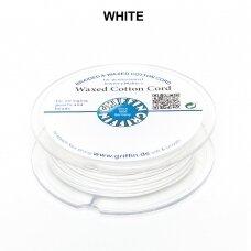 Griffin® vaškuota medvilninė virvelė 1mm diametro White (20m)