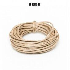 Griffin® vaškuota medvilninė virvelė 2.5mm diametro Beige (5m)