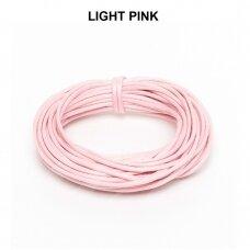 Griffin® vaškuota medvilninė virvelė 2.5mm diametro Light Pink (5m)