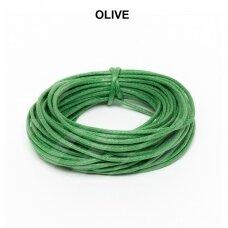 Griffin® vaškuota medvilninė virvelė 2.5mm diametro Olive (5m)