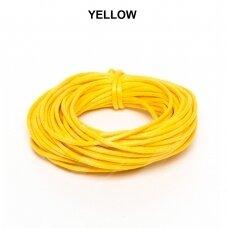 Griffin® vaškuota medvilninė virvelė 2.5mm diametro Yellow (5m)