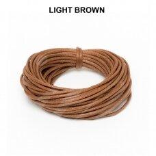 Griffin® vaškuota medvilninė virvelė 2mm diametro Light Brown (5m)