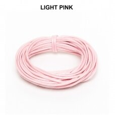 Griffin® vaškuota medvilninė virvelė 2mm diametro Light Pink (5m)