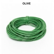 Griffin® vaškuota medvilninė virvelė 2mm diametro Olive (5m)