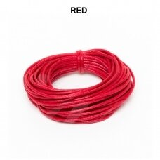 Griffin® vaškuota medvilninė virvelė 2mm diametro Red (5m)