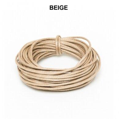 Griffin® Waxed Cotton Cord 0.80mm diameter Beige (5m)