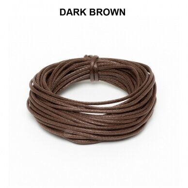 Griffin® Waxed Cotton Cord 0.80mm diameter Dark Brown (5m)