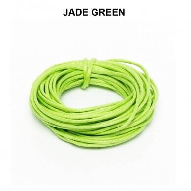 Griffin® Waxed Cotton Cord 0.80mm diameter Jade Green (5m)