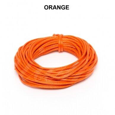 Griffin® Waxed Cotton Cord 0.80mm diameter Orange (5m)