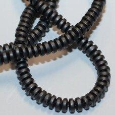 jsha-mat-ron1-02x3 about 2 x 3 mm, rondelle shape, matte, hematite, about 185 pcs.