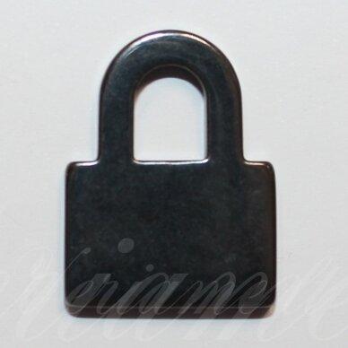 HEMP0024 apie 24 x 18 mm, spynos forma, hematitas, pakabukas, 1 vnt.