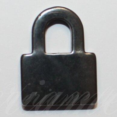 hemp0040 apie 22 x 17 mm, spynos forma, hematitas, pakabukas, 1 vnt.