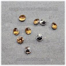 ikp0010 apie 3 x 2 mm, inkrustuojama akrilinė akutė, ruda spalva, apie 700 vnt.