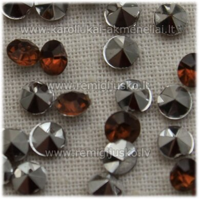 ikp0016 about 4 x 2.5 mm, pointed back acrylic, brown color, about 300 pcs.
