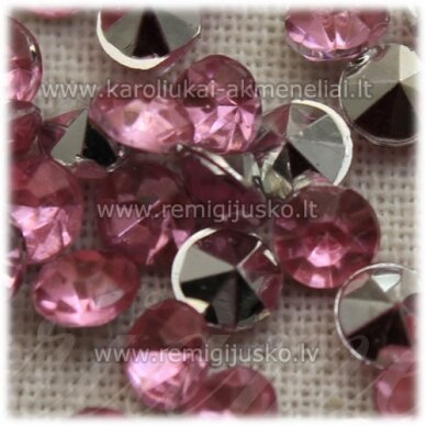 ikp0017 apie 4 x 2.5 mm, inkrustuojama akrilinė akutė, šviesi, rožinė spalva, apie 300 vnt.