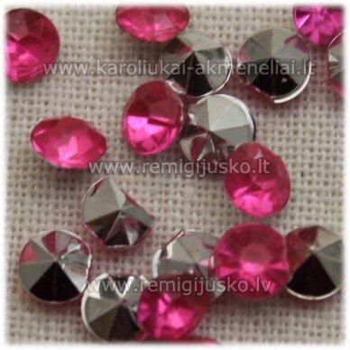 ikp0018 apie 4 x 2.5 mm, inkrustuojama akrilinė akutė, rožinė spalva, apie 300 vnt.