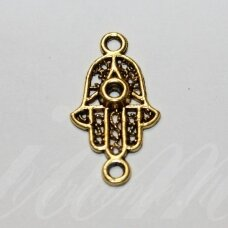 ind0101 about 29 x 16 x 3 mm, aged gold color, metal insertion, 1 pc.
