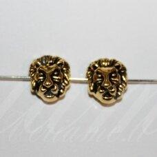 IND0102 apie 11 x 12 x 6 mm, sendinto aukso spalva, intarpas, 1 vnt.