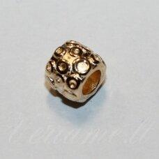 IND0304 apie 8.5 x 9.5 mm, skylė 4.5 mm, šviesi, auksinė spalva, metalinis intarpas, 1 vnt.