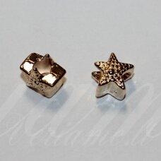 ind0403 apie 10 x 8 mm, skylė 5 mm, rusiško aukso spalva, plastikinis, intarpas, 1 vnt.