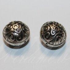 IND0537 apie 16 x 13.5 mm, metalo spalva, metalinis, intarpas, 1 vnt.